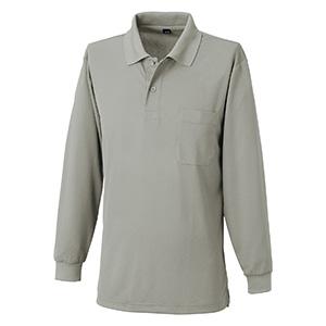 吸汗速乾 長袖ポロシャツ 6002 40 グレー