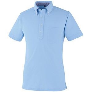 DRY ボタンダウン 半袖ポロシャツ 9020−6 サックス SS〜5L
