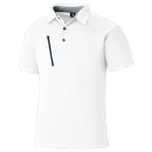 ファスナーポケット 半袖ポロ 3674−90 ホワイト
