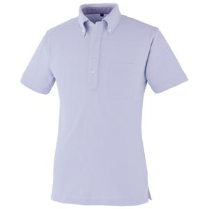 DRY ボタンダウン 半袖ポロシャツ 9020−16 ラベンダー SS〜5L