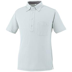 DRY ボタンダウン 半袖ポロシャツ 9020−46 ライトグレー SS〜5L