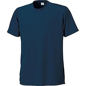 接触冷感 半袖Tシャツ 7363−1 ネービー