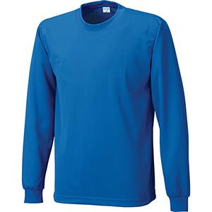 接触冷感 長袖Tシャツ 7364−8 Rブルー