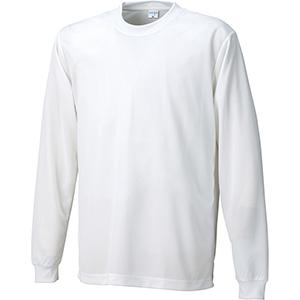 接触冷感 長袖Tシャツ 7364−90 ホワイト