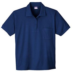 抗菌防臭レディース 半袖ポロシャツ 490 1 ネービー