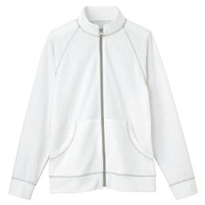 男女共用 メッシュジャケット HM−2247 11 ミルクホワイト SS〜3L