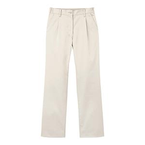 男女共用 ストレッチワンタックパンツ CAM−060 11 パールホワイト (SS〜5L)