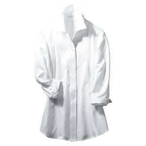 シャツブラウス (七分袖) ESB−597 11 ホワイト