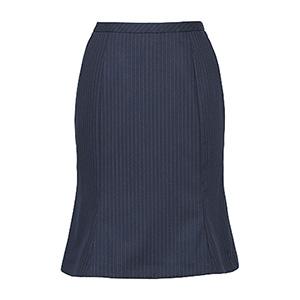 美スラッと(R) Suits マーメイドラインスカート EAS−477 2 ネイビーストライプ