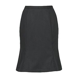 美スラッと(R) Suits マーメイドラインスカート EAS−477 10 ブラックストライプ