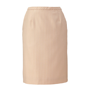 ENJOY BEAUTE FLAX STRIPE セミタイトスカート EAS−580 8 ベージュストライプ