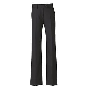 美スラッと(R) Suits2 フレアストレートパンツ EAL−585 10 ブラック