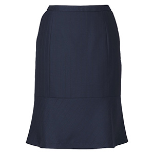 ENJOY BEAUTE CORAL CROSS STRIPE マーメイドラインスカート EAS−634 2 ネイビー