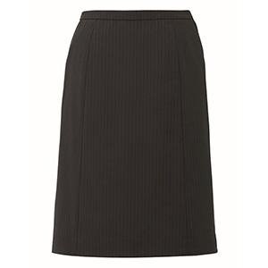 HIGH STRETCH SUITS Aラインスカート EAS−713 510 ブラックストライプ