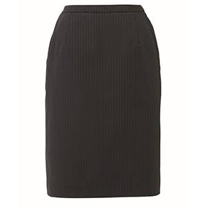 HIGH STRETCH SUITS セミタイトスカート EAS−714 510 ブラックストライプ