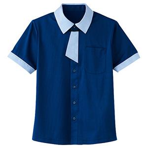 男女共用 半袖ニットシャツ HM−2629 6 海 (SS〜3L)