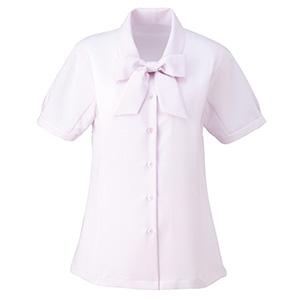 ボウブラウス (半袖) ESB−407 9 ピンク