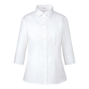 シャツブラウス (七分袖) ESB−659 11 ホワイト