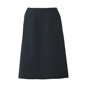 Feminine Line (ノンストレスシリーズ) Aラインスカート ESS−666 10 ブラック