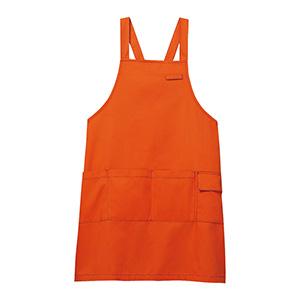 男女共用 エプロン CAE−005 14 オレンジ