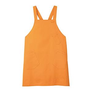 男女共用 エプロン CAE−057 14 オレンジ
