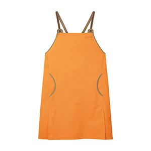 男女共用 エプロン CAE−058 14 オレンジ