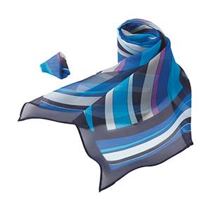 ロングスカーフ EAZ−601 6 ブルー