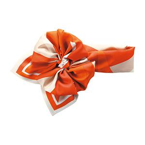 コサージュスカーフ EAZ−657 14 オレンジ