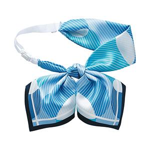 ENJOY ROUGE(R) リボンスカーフ EAZ−695 6 ブルー