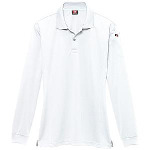 長袖ポロシャツ 303−029 ホワイト (SS〜3L)