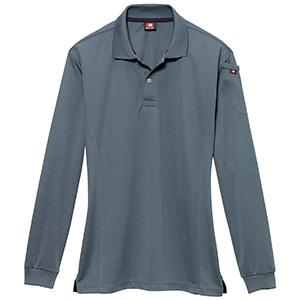 長袖ポロシャツ 303−036 スティール (SS〜3L)