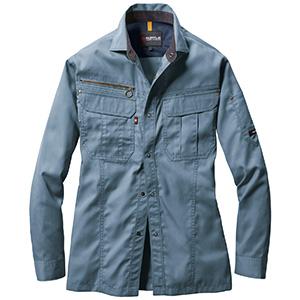 長袖シャツ 6103−4 ミストブルー (SS〜3L)