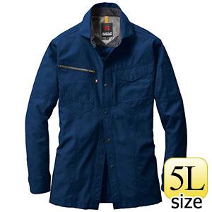 長袖シャツ 7093−3 ネイビー (5L)