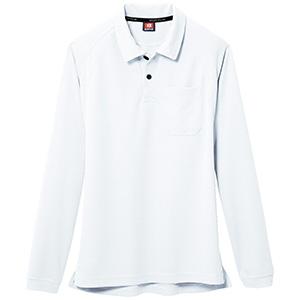 長袖ポロシャツ 103−029 ホワイト (SS〜3L)