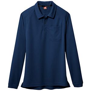 長袖ポロシャツ 103−003 ネイビー (SS〜3L)