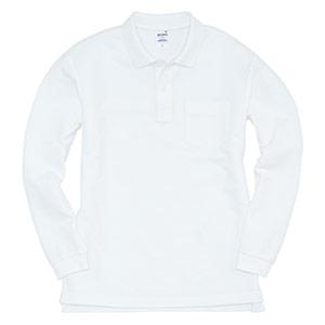 長袖ポロシャツ 203−029 ホワイト (SS〜3L)