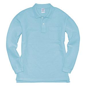 長袖ポロシャツ 203−048 サックス (SS〜3L)