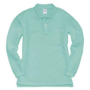 長袖ポロシャツ 203−016 ミントグリーン (SS〜3L)