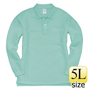 長袖ポロシャツ 203−016 ミントグリーン (5L)