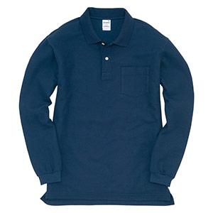 長袖ポロシャツ 203−003 ネイビー (SS〜3L)
