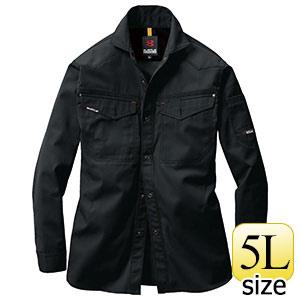 長袖シャツ 1205−35 ブラック (5L)