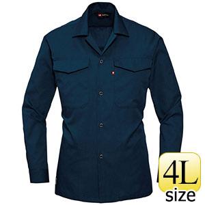 オープンシャツ 0011OP−3 ネイビー (4L)