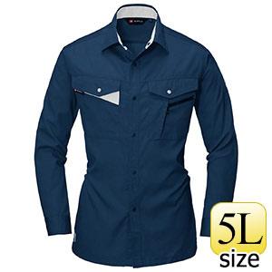 長袖シャツ 6005−3 ネイビー (5L)