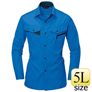 長袖シャツ 6005−4 レイブルー (5L)
