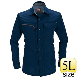 長袖シャツ 6063−3 ネイビー (5L)