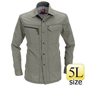 長袖シャツ 6063−21 グレージュ (5L)