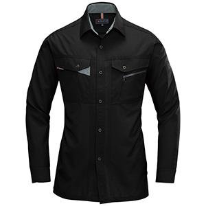 長袖シャツ 7063−35 ブラック (S〜3L)