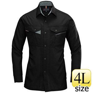 長袖シャツ 7063−35 ブラック (4L)