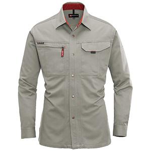 長袖シャツ 8015−21 グレージュ (S〜3L)
