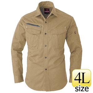 長袖シャツ 5505−23 カーキ (4L)